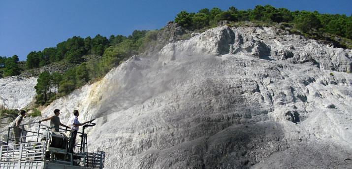 Envejecimiento de roca