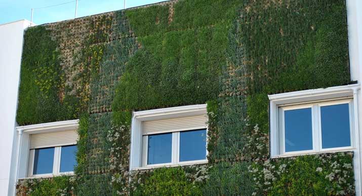 Cubiertas y jardines verticales ecoeficientes