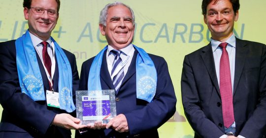 "LIFE+Agricarbon premio ""Mejor Proyecto LIFE"""