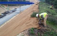 Trabajos para proteger los taludes de desmonte